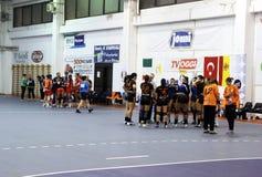 Handball time out Stock Image