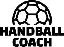 Handball trener Fotografia Royalty Free