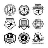 Handball Vector Icons 19 Stock Image