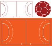 Handball. Vector illustration (EPS 10 Royalty Free Stock Image