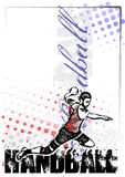 Handball vector poster background Royalty Free Stock Photography