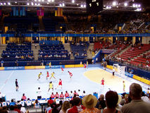 Handball women 17 August 2004 Olympic Games South Korea-Denmark (score 29-29) Royalty Free Stock Photography