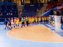 Handball women 17 August 2004 Olympic Games South Korea-Denmark (score 29-29) Royalty Free Stock Photos