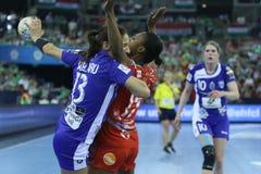 HANDBALL WOMEN EHF CHAMPIONS LEAGUE FINAL 4 – CSM BUCURESTI vs. ZRK VARDAR Stock Photos
