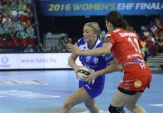 HANDBALL WOMEN EHF CHAMPIONS LEAGUE FINAL 4 – CSM BUCURESTI vs. ZRK VARDAR Royalty Free Stock Photography