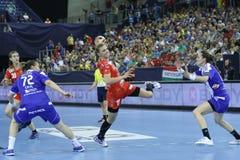 HANDBALL WOMEN EHF CHAMPIONS LEAGUE FINAL 4 – ZRK BUDUCNOST PODGORICA vs. ZRK VARDAR SKOPJE Stock Photography