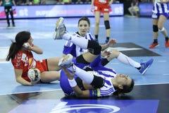 HANDBALL WOMEN EHF CHAMPIONS LEAGUE FINAL 4 – ZRK BUDUCNOST PODGORICA vs. ZRK VARDAR SKOPJE Stock Image