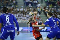 HANDBALL WOMEN EHF CHAMPIONS LEAGUE FINAL 4 – ZRK BUDUCNOST PODGORICA vs. ZRK VARDAR SKOPJE Royalty Free Stock Image