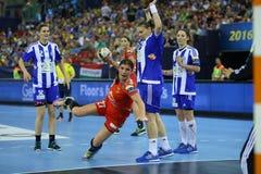 HANDBALL WOMEN EHF CHAMPIONS LEAGUE FINAL 4 – ZRK BUDUCNOST PODGORICA vs. ZRK VARDAR SKOPJE Stock Images