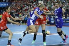 HANDBALL WOMEN EHF CHAMPIONS LEAGUE FINAL 4 – CSM BUCURESTI vs. ZRK VARDAR Royalty Free Stock Image