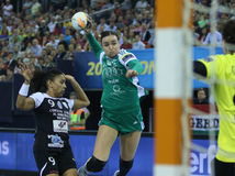 HANDBALL WOMEN EHF CHAMPIONS LEAGUE FINAL – GYORI AUDI ETO KC vs. CSM BUCURESTI Stock Photo