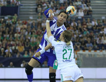 HANDBALL WOMEN EHF CHAMPIONS LEAGUE FINAL 4 – GYORI AUDI ETO KC vs. ZRK BUDUCNOST PODGORICA Stock Photography