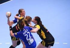 HANDBALL WOMEN'S CHAMPIONS LEAGUE - CSM BUCHAREST vs. ROSTOV-DON Stock Photo