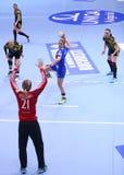HANDBALL WOMEN'S CHAMPIONS LEAGUE - CSM BUCHAREST vs. ROSTOV-DON Royalty Free Stock Image
