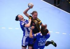HANDBALL WOMEN'S CHAMPIONS LEAGUE - CSM BUCHAREST vs. ROSTOV-DON Stock Image