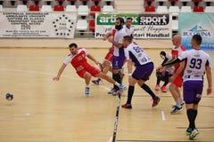 Handballaktion Stockfotografie