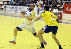 Handballangriff Stockfoto
