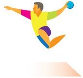 Handballangriff Lizenzfreie Stockfotos