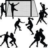 Handballfrauenspieler Stockfotos