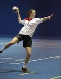 Handballteam-Frauenwurf Lizenzfreie Stockfotos