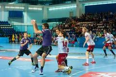 Handbalspelers stock foto's