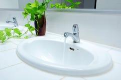 Handbasin in toilet Royalty Free Stock Image