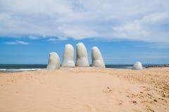 Handbeeldhouwwerk, Punta del Este Uruguay Royalty-vrije Stock Fotografie