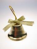 Handbell. Golden New Year's handbell on  white background Stock Photos