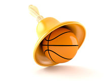 Handbell with basketball Royalty Free Stock Images