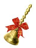 Handbell del oro Imagenes de archivo