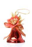 Handbell rosso di natale Fotografia Stock