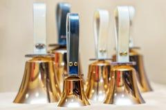 Handbells ready to play Royalty Free Stock Photo