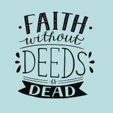 Handbeschriftung Glaube ohne Briefe ist- tot stock abbildung