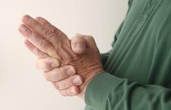 Handbetäubung Stockbild