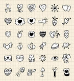 Handbetrag-Liebeselement Stockbilder