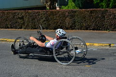 Handbike competition Belgium 2016 Stock Photo