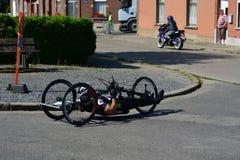 Handbike competition Belgium 2016 Royalty Free Stock Photos