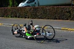 Handbike competition Belgium 2016 Stock Photos