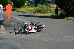Handbike competition Belgium 2016 Royalty Free Stock Photo