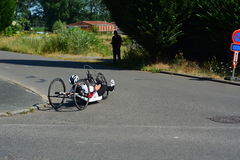 Handbike competition Belgium 2016 Royalty Free Stock Images