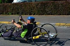 Handbike competition Belgium 2016 Stock Images
