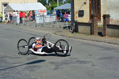 Handbike competition Belgium 2016 Stock Photography