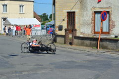 Handbike konkurrens Belgien 2016 Arkivbilder