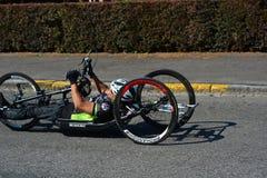 Handbike-Wettbewerb Belgien 2016 Stockfotos