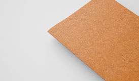 Handboek met leerdekking op de lichte achtergrond Gouden kleur 3d geef terug Royalty-vrije Stock Fotografie