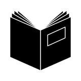 Handboek open geïsoleerd pictogram Royalty-vrije Stock Afbeeldingen