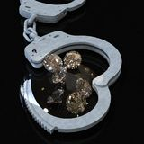 Handbojor och diamanter som symboliserar den vice förälskade tolkningen för angelägenheter 3d Arkivfoton