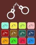 Handbojor - vektorsymbol med färgvariationer Royaltyfri Bild