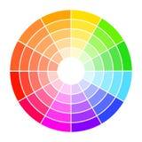 Handbok för färghjul med mättande och viktig Färgplockareassistent royaltyfri illustrationer