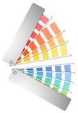 Handbok för färgpalett Arkivbilder